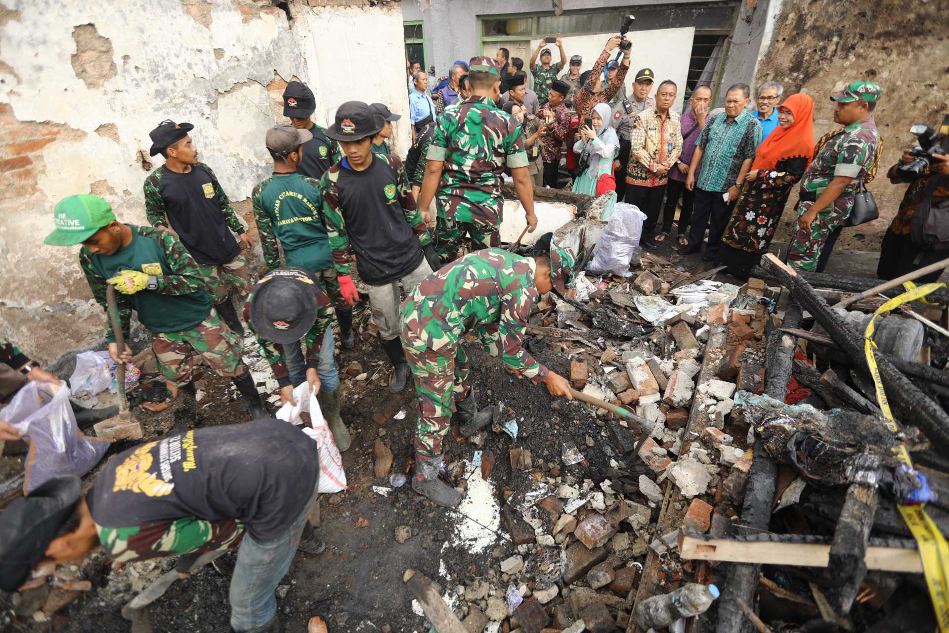 Korban Kebakaran Kelurahan Nyengseret Kota Bandung Harapakan Bantuan