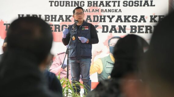 Peringati Hari Bhakti Adhyaksa Ke-60 , Pemprov Jabar Distribusikan Paket Sembako di Sukabumi