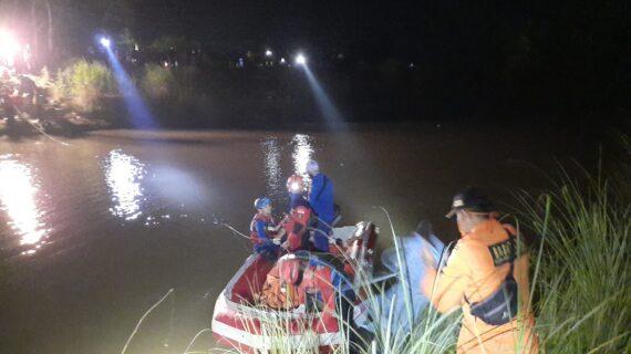 Tim SAR Gabungan Berhasil Temukan Korban Tenggelam di Kali Muara Ciasem Kabupaten Subang