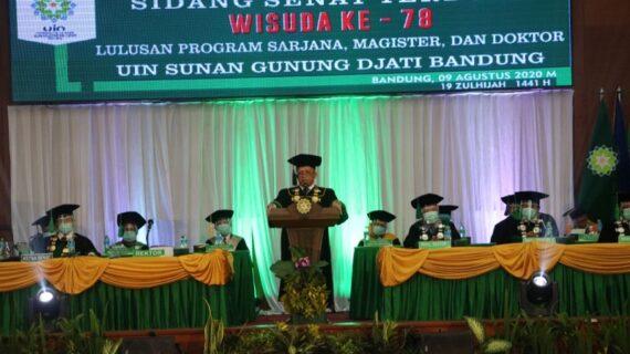 Berlangsung Khidmat, UIN Bandung Gelar Wisuda ke 78 Secara Virtual