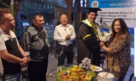 Bernama HABI LAW Firm, Ketua Dewan Pembina Parfis Buka Kantor Hukum di Bandung
